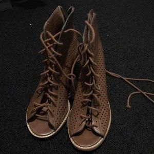 Forever 21 lace up booties